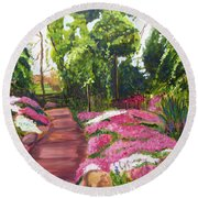Sayen Path Round Beach Towel
