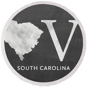 Sc Love Round Beach Towel