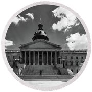 Sc State House - Ir Round Beach Towel