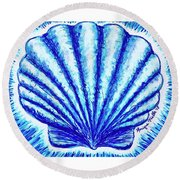 Scallop Round Beach Towel
