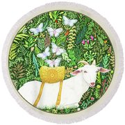 Scapegoat Button Round Beach Towel