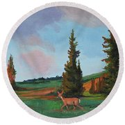 Scapegoat Summer Sunset Round Beach Towel