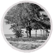 Scapes 2 16b Round Beach Towel