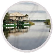 Scapes 3 16b Round Beach Towel