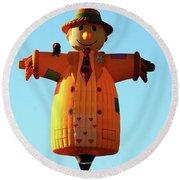 Scarecrow Balloon Round Beach Towel