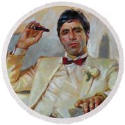 Scarface Round Beach Towel