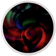 Scarlet Pimpernel Round Beach Towel by Cathy Donohoue
