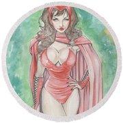 Scarlett Witch Round Beach Towel