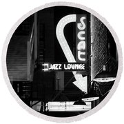 Scat Jazz Bw 11217 Round Beach Towel