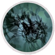 Scattered Shadows Round Beach Towel