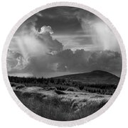 Scattering Clouds Over The Cronk Round Beach Towel