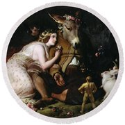 Scene From A Midsummer Night's Dream Round Beach Towel