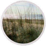 Scene From Hilton Head Island Round Beach Towel
