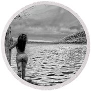 Scenery 2 Round Beach Towel by David Stasiak