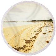 Scenic Coastal Calm Round Beach Towel