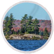 Round Beach Towel featuring the photograph Scenic Fall View by Paul Freidlund