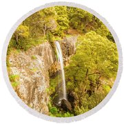 Scenic Forest Falls Round Beach Towel