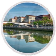 Scenic River View Round Beach Towel by James Hammond