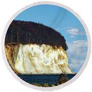 Scenic Rugen Island Round Beach Towel