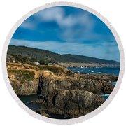 Scenic Sea Ranch California Round Beach Towel