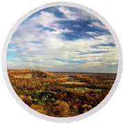 Scenic View Round Beach Towel by Elsa Marie Santoro