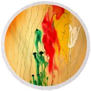 Scent Of An Orchid Round Beach Towel