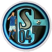 Schalke 04 Gelsenkirchen Painting Round Beach Towel
