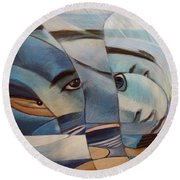 Schizophrenia Round Beach Towel