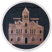 Schley County, Georgia Courthouse Round Beach Towel