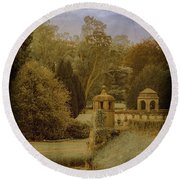 Round Beach Towel featuring the photograph Juchen, Germany - Schloss Dyck English Garden by Mark Forte
