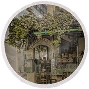 Round Beach Towel featuring the photograph Athens, Greece - Scholarcheion by Mark Forte