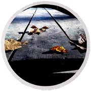 Schooled In Thought Round Beach Towel