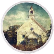 Schoolhouse 1895 Round Beach Towel