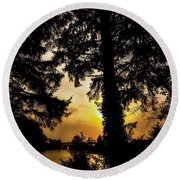 Schooner Creek, Oregon Round Beach Towel