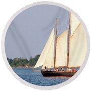 Schooner Cruise, Casco Bay, South Portland, Maine  -86696 Round Beach Towel