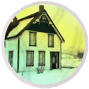 Schubert House Round Beach Towel by Kathy Bassett