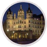 Schwerin Castle 4 Round Beach Towel