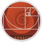 Science Posters - Fibonacci - Mathematician Round Beach Towel
