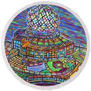 Science World, Vancouver, Alive In Color Round Beach Towel by Jeremy Aiyadurai
