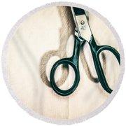 Scissor Handles Round Beach Towel