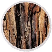 Scorched Timber Round Beach Towel