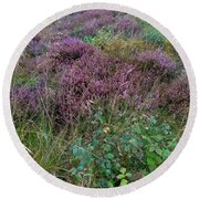 Scotish Heather Round Beach Towel by Mary-Lee Sanders