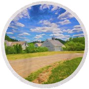 Scott Farm Vista Round Beach Towel