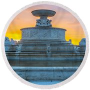 Scott Fountain Round Beach Towel