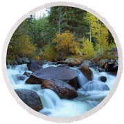 Round Beach Towel featuring the photograph Scott Gomer Creek At Guanella Pass by Marie Leslie