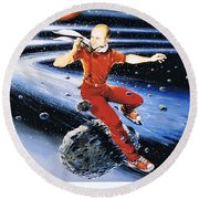 Scott Hamilton Skates The Stars Round Beach Towel