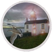 Scottish Beacon Round Beach Towel