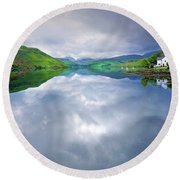 Scottish Reflection Round Beach Towel