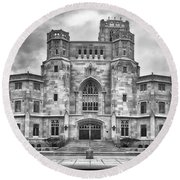 Round Beach Towel featuring the photograph Scottish Rite Cathedral by Howard Salmon