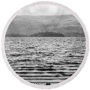 Round Beach Towel featuring the photograph Scottish Shores by Christi Kraft